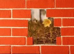 Как из картона сделать имитацию кирпичной стены?
