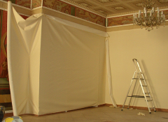 Использование ткани для отделки стен