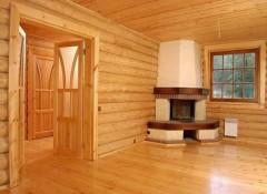 Деревянный дом — особенности внутренней отделки стен