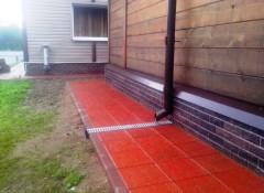 Фундамент и отмостка из бетона на улице — чем покрасить?