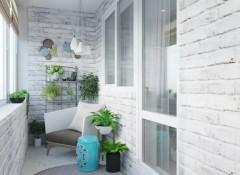 Скандинавский стиль в оформлении интерьера балкона