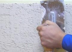 Использование декоративной штукатурки «короед» для отделки стен
