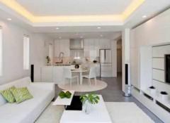 Использование в кухне-гостиной потолков из гипсокартона